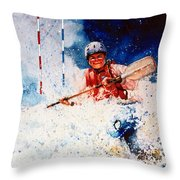 The Kayak Racer 20 Throw Pillow by Hanne Lore Koehler