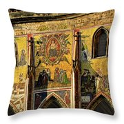 The Last Judgment - St Vitus Cathedral Prague Throw Pillow by Christine Till