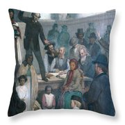 The Last Slave Sale Throw Pillow by Photo Researchers