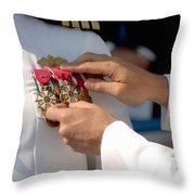 The Legion Of Merit Medal Throw Pillow by Stocktrek Images