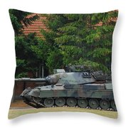 The Leopard 1a5 Main Battle Tank In Use Throw Pillow by Luc De Jaeger