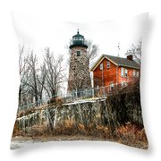 The Lighthouse Throw Pillow by Ken Marsh