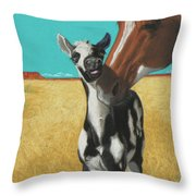 The Little Mustang Throw Pillow by Tracy L Teeter