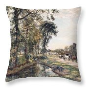 The Manor Farm Throw Pillow by Mark Fisher