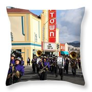 The Marching Band at The Uptown Theater in Napa California . 7D8925 Throw Pillow by Wingsdomain Art and Photography