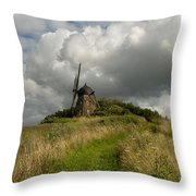The Mill At Aarup Throw Pillow by Robert Lacy