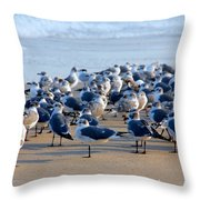 The Monday Morning Meeting Throw Pillow by Susanne Van Hulst