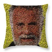 The Most Interesting Mosaic In The World Throw Pillow by Paul Van Scott