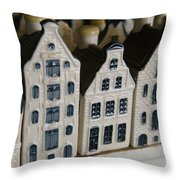 The Netherlands, Amsterdam, Model Houses Throw Pillow by Keenpress