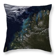 The Norwegian Sea Throw Pillow by Stocktrek Images