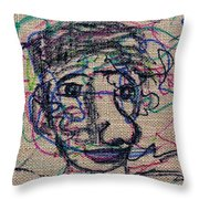 The Nose Knows Throw Pillow by Natalie Holland
