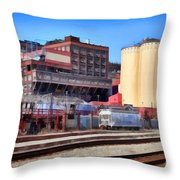 The Old C and H Pure Cane Sugar Plant in Crockett California . 5D16770 Throw Pillow by Wingsdomain Art and Photography