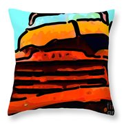 The Old Jalopy . 7d8396 . Color Sketch Style Throw Pillow by Wingsdomain Art and Photography
