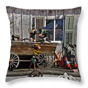 The Old Shed Throw Pillow by Mary Machare