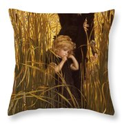 The Orphan Throw Pillow by James Jacques Joseph Tissot