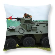 The Pandur 6x6 Family Of Wheeled Throw Pillow by Luc De Jaeger