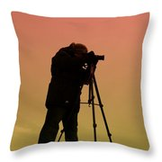 The Photographer Throw Pillow by Paul Ward
