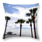 The Pier - St. Petersburg Throw Pillow by Bill Cannon