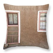 The Pinkertons Live Here Throw Pillow by Glennis Siverson