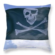 The Pirate Flag Known As The Jolly Throw Pillow by Stephen St. John