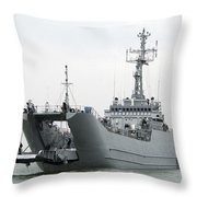 The Polish Lublin-class Minelayer Orp Throw Pillow by Stocktrek Images