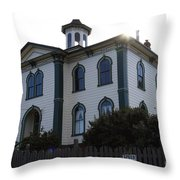 The Potter School House . Bodega Bay . Town of Bodega . California . 7D12477 Throw Pillow by Wingsdomain Art and Photography