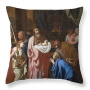 The Presentation Of Christ In The Temple Throw Pillow by Charles Le Brun
