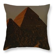 The Pyramids Of Giza In The Late Throw Pillow by Kenneth Garrett