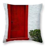 The Red Door Throw Pillow by Karon Melillo DeVega