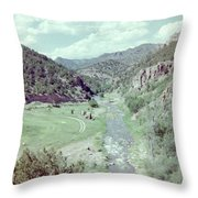 The River Throw Pillow by Bonfire Photography