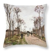 The Road To Saint Cyr At Louveciennes Throw Pillow by Camille Pissarro