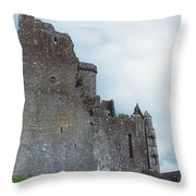 The Rock Of Cashel, Co Tipperary Throw Pillow by The Irish Image Collection