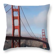 The San Francisco Golden Gate Bridge - 5d18906 Throw Pillow by Wingsdomain Art and Photography