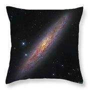 The Sculptor Galaxy, Ngc 253 Throw Pillow by Robert Gendler