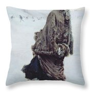 The Skater Throw Pillow by Joseph de Nittis