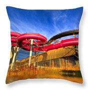 The Sun Centre Throw Pillow by Adrian Evans