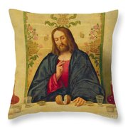 The Supper At Emmaus Throw Pillow by Vincenzo di Biaio Catena