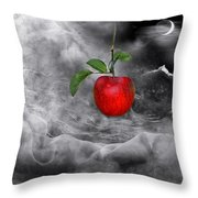 The Tamptation Throw Pillow by Manfred Lutzius