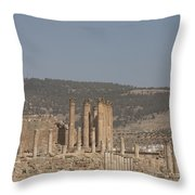 The Temple Of Artemis In The Ruins Throw Pillow by Taylor S. Kennedy
