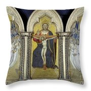 The Trinity With Angels Throw Pillow by Granger