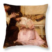 The Two Crowns Throw Pillow by Charles Sims
