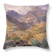 The Val D'aosta Throw Pillow by John Brett