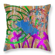 The Writing On The Wall 11 Throw Pillow by Tim Allen