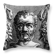 Theophrastus, Ancient Greek Polymath Throw Pillow by Photo Researchers