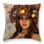 They Call Her Autumn Throw Pillow by Jutta Maria Pusl