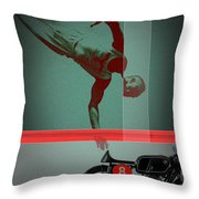 They Crossed That Line Throw Pillow by Naxart Studio