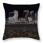 This City Is Rockin' Throw Pillow by Carol Groenen