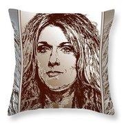 Three Interpretations Of Celine Dion Throw Pillow by J McCombie