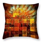Through The Windows Throw Pillow by Klara Acel