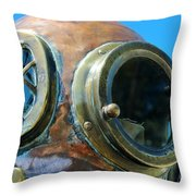 Thru the Peep Hole Throw Pillow by Rene Triay Photography